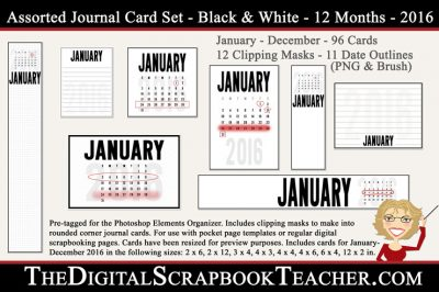 2016 Calendar Journal Cards