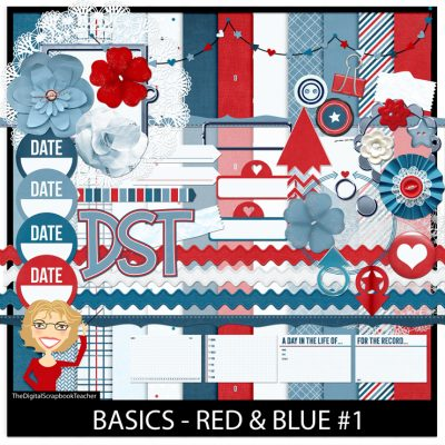 Red Blue Paper Kit