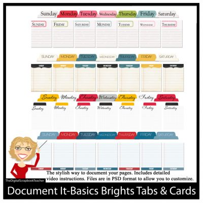 Basics Brights Tabs & Cards