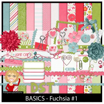 Fuchsia Paper Kit