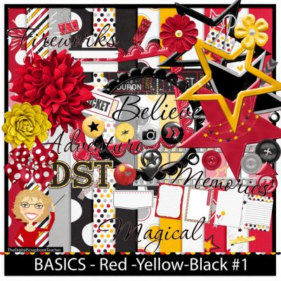 Red Yellow Black Paper Kit
