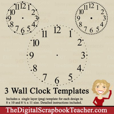 Clock Templates - Cd - The Digital Scrapbook Teacher