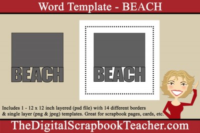 Beach Word Template