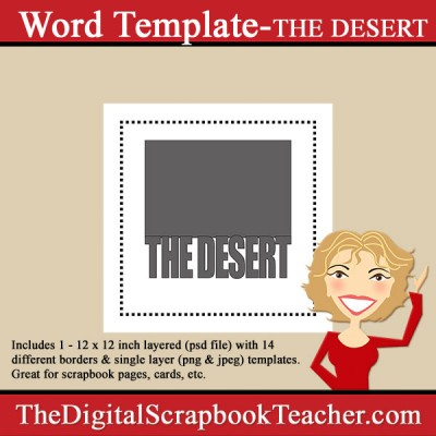 The Desert Word Template