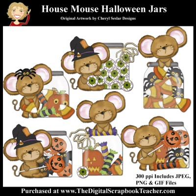 House Mouse Halloween Jars
