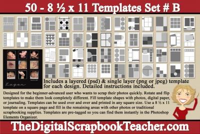 8.5 x 11 template B