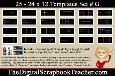24 x 12 G Template Set