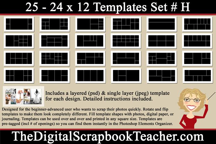 12 x 24 Template Set H