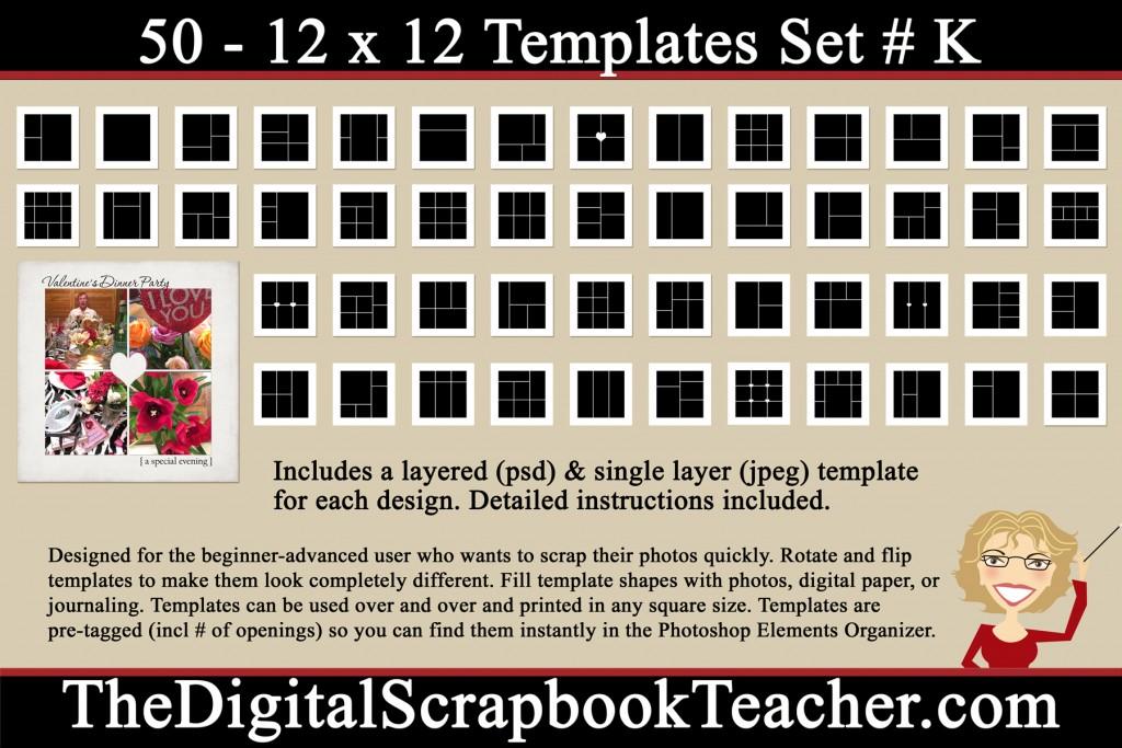12 x 12 K Template Set