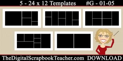 24 x 12 template set G01-05