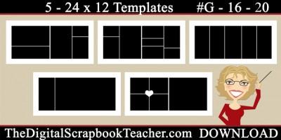 24 x 12 template set G16-20