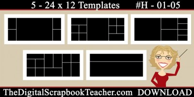 24 x 12 template set H 01-05