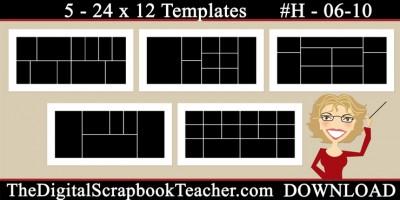 24 x 12 template set H 06-10