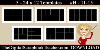 24 x 12 template set H 11-15