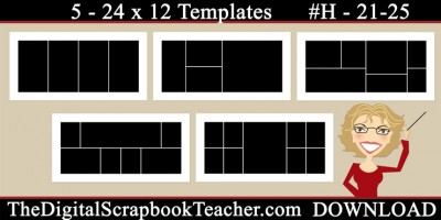 24 x 12 template set H 21-25
