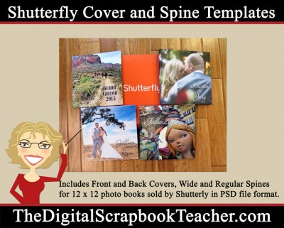 Shutterfly cover and spine templates