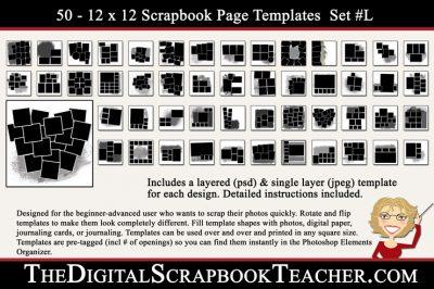 12x12 Template Set L