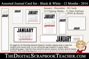 2016 Calendar Journal Cards