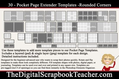 Rounded Pocket Page Extender Kit
