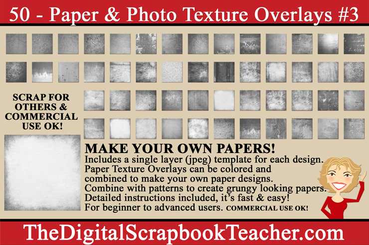 Paper & Photo Texture Overlays #3 DOWNLOAD Only