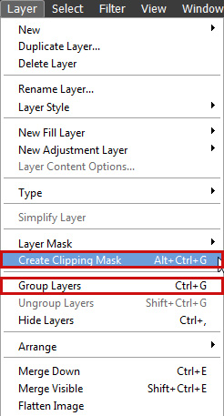 Group Clip Layers Photoshop Elements