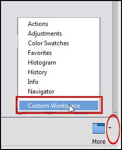 PSE Photoshop Elements Custom Workspace