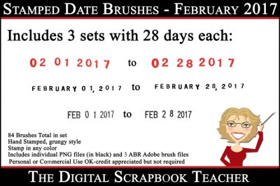February 2017 Date Stamps