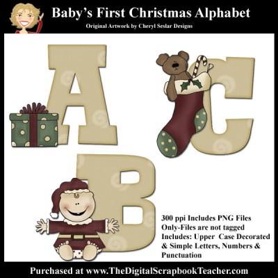 Dig_SB_Tchr_Alpha_Babys_1st_Christmas_Seslar