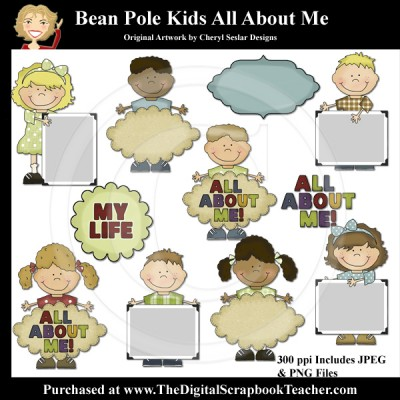 Dig_SB_Tchr_Bean_Pole_Kids_All_About_Me_Seslar