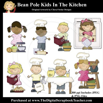 Dig_SB_Tchr_Bean_Pole_Kids_In_The_Kitchen_Seslar