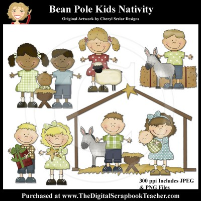 Dig_SB_Tchr_Bean_Pole_Kids_Nativity_Seslar