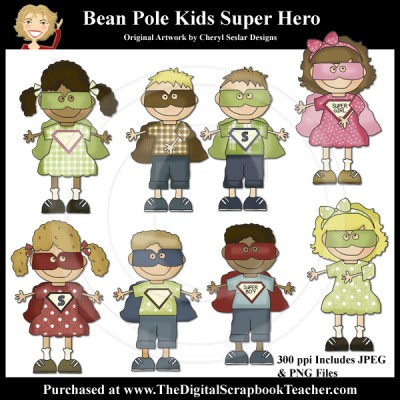 Dig_SB_Tchr_Bean_Pole_Kids_Super_Hero_Seslar