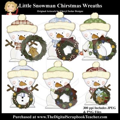 Dig_SB_Tchr_Little_Snowman_Christmas_Wreaths_Seslar