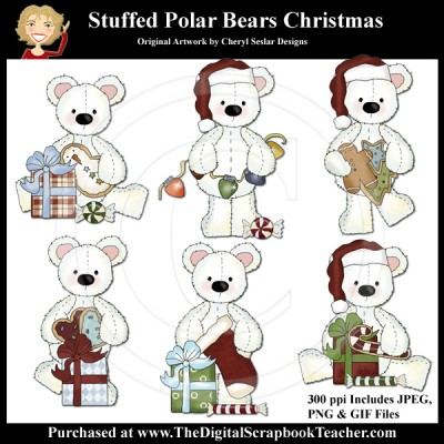 Dig_SB_Tchr_Stuffed-Polar-Bear_Christmas_Seslar