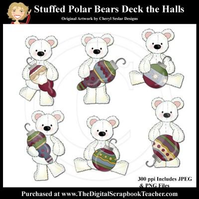 Dig_SB_Tchr_Stuffed_Polar_Bears_Deck_Halls_Seslar