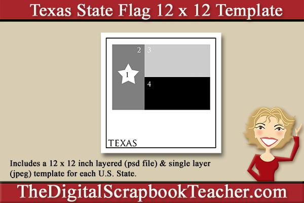 texas state flag template download the digital scrapbook teacher