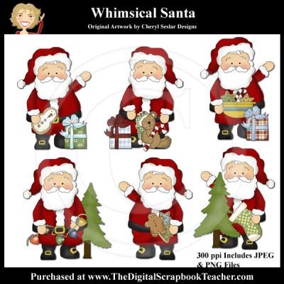 Dig_SB_Tchr_Whimsical_Santa_Seslar